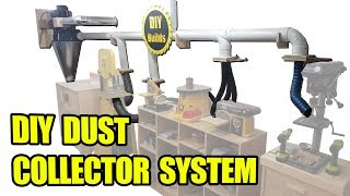DIY Dust Collector System with Homemade Blast Gates and Automatic Start/Stop Function