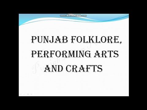 Punjab History and Culture- Folklore, Art and Craft
