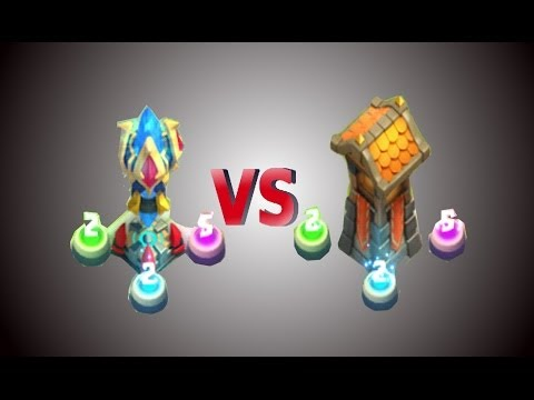 Castle Clash Heroes Trial And HBM Wave I Magic Towers Vs Archer Towers