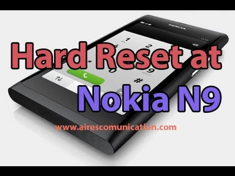 Hard Reset at Nokia N9 by Code