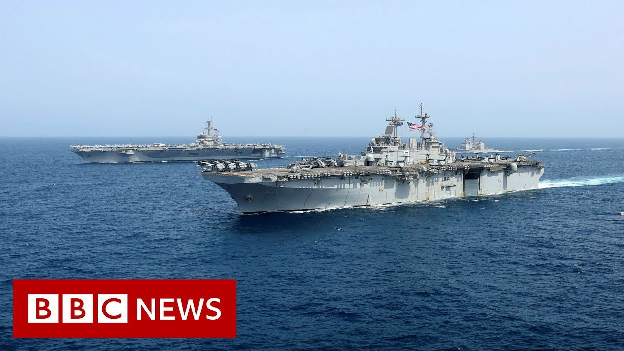 Onboard USS President Abraham Lincoln - BBC News