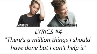 MARCUS & MARTINUS LYRIC QUIZ