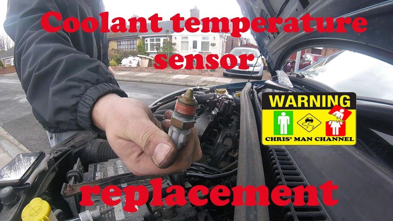 Ford Fiesta MK6 coolant temperature sensor replacement