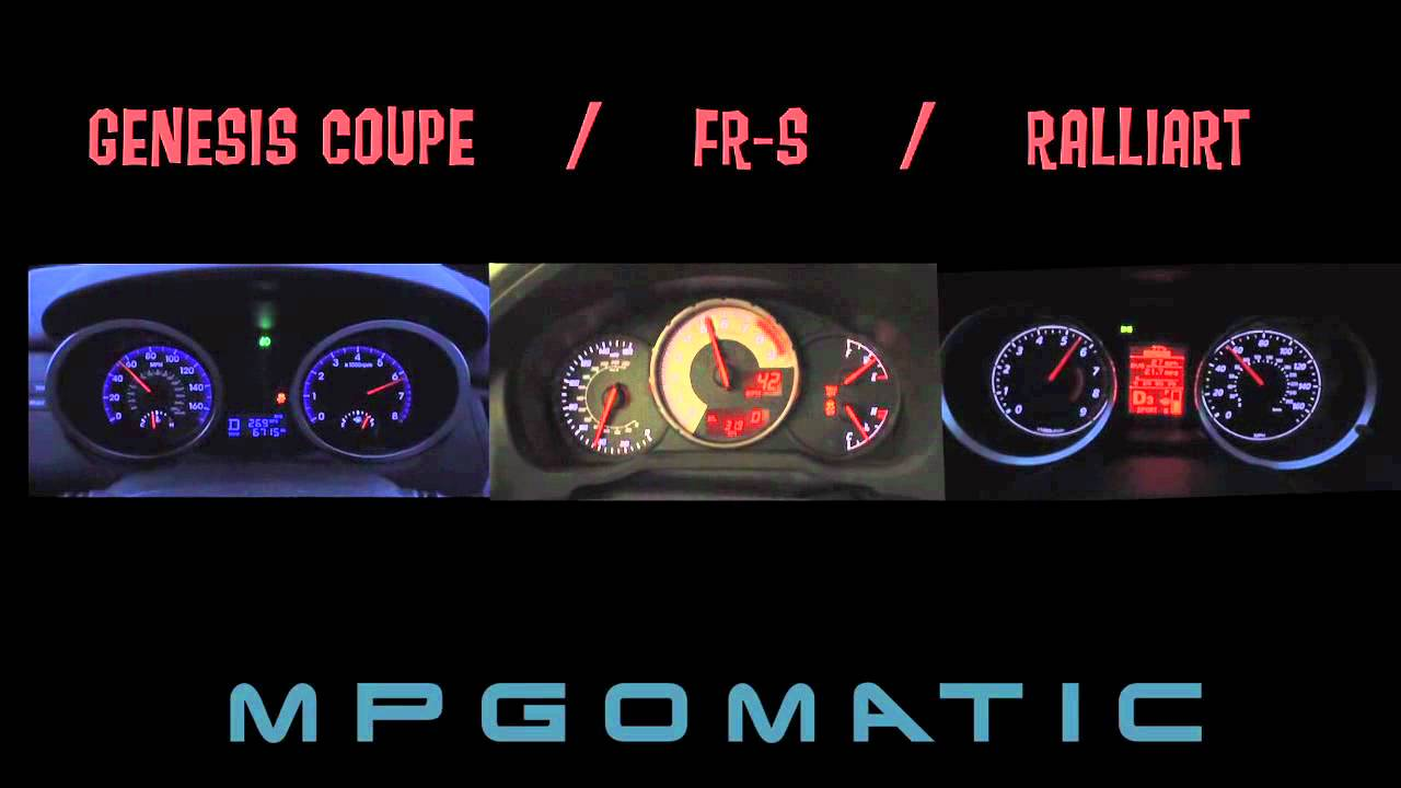 Scion Fr S Vs Hyundai Genesis Coupe Vs Mitsubishi Ralliart 0 60 Mph