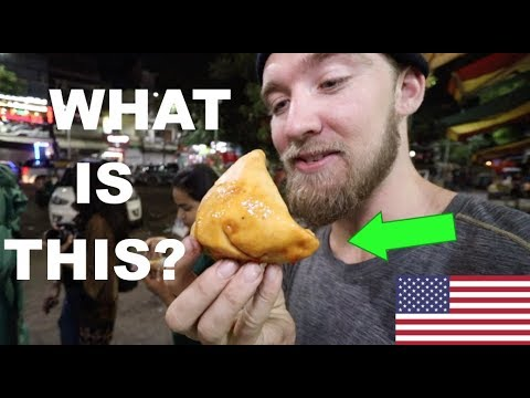 AMERICAN IN INDIA: Eating Rasmalai, Samosa and Tunday Kebab!! (Indian Food)