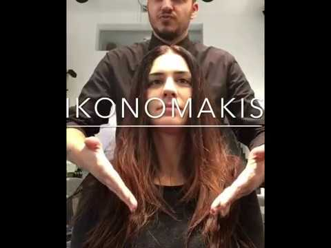 Hair Makeover by Ikonomakis long to LOB