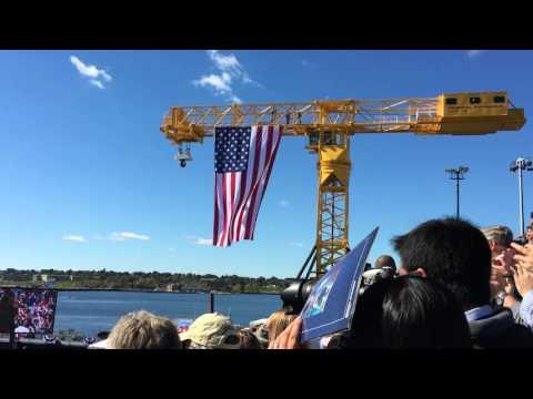 Nuclear submarine: USS Illinois christening ceremony