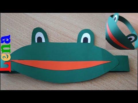 Как сделать маску лягушки на голову своими руками