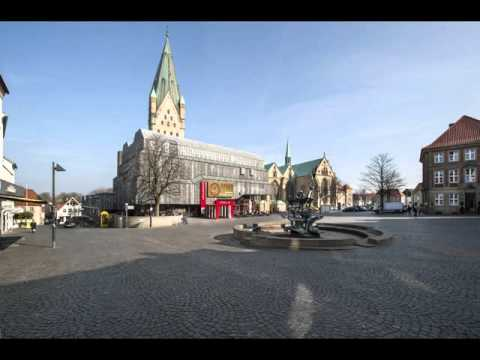 Cities of Germany, Paderborn, buildings ,park ,leisur­e, tourism, history, women