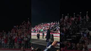 President Trump leaving the Bemidji MN rally. Such President. Very epic. Good dance moves.