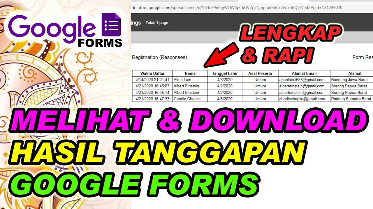 Temukan Cara Buka Hasil Google Form paling mudah