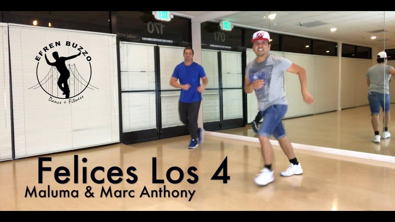 SALSA, Felices Los 4, Maluma & Marc Anthony ZUMBA choreo