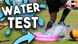 Wet weather football boots test! adidas glitch fills up with water?