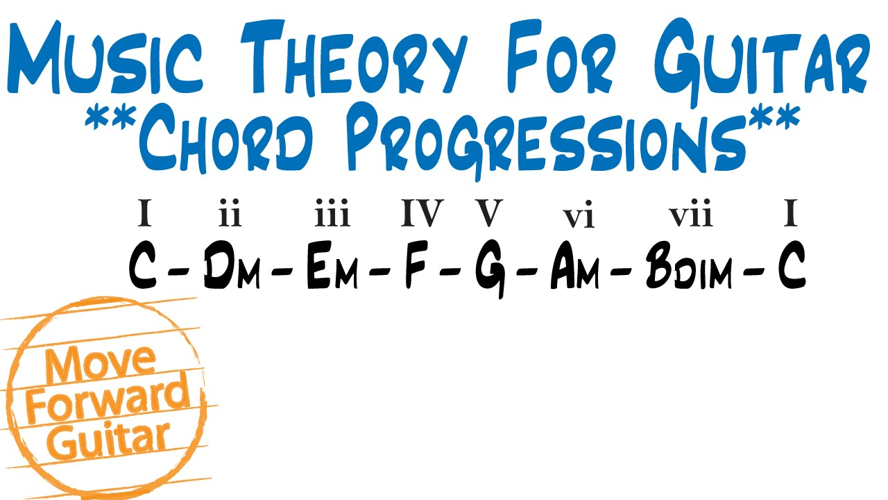 Music theory for guitar major scale chord progressions youtube music theory for guitar major scale chord progressions hexwebz Images