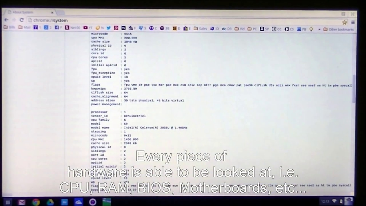How to find the system information on a Chromebook