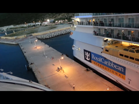 Incredible video crazy people's almost left behind by biggest cruise ship of the world