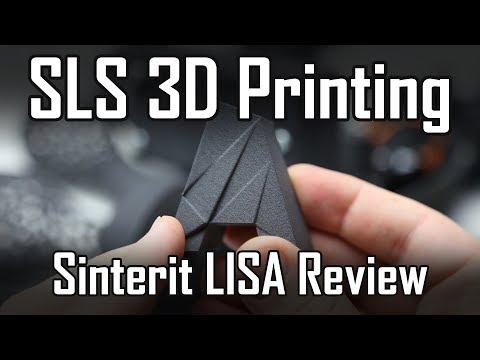 SLS 3D Printer - Sinterit Lisa  on-site review of SLS 3D printing