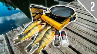 Cooking Jumbo Perch Lakeside (Catch & Cook)
