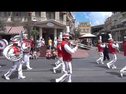 "The Walt Disney World Band playing ""Mickey Mouse March"""