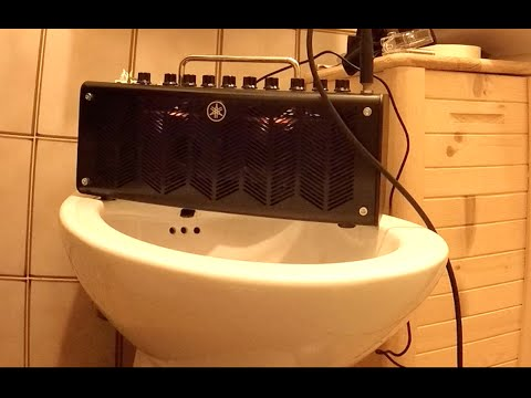 Yamaha THR10c blues sound bathroom acoustic test recorded with GoPro Hero4 Silver