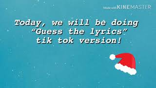 "Thank you for clicking this video, i am doing ""guess the lyric"" with tik tok songs. i'm having a lot of time to do so could always comment, and mi..."