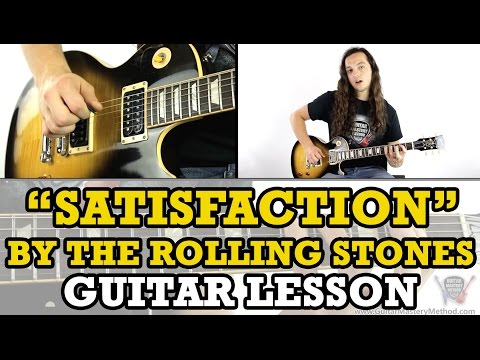 How To Play Satisfaction On Guitar (By The Rolling Stones)