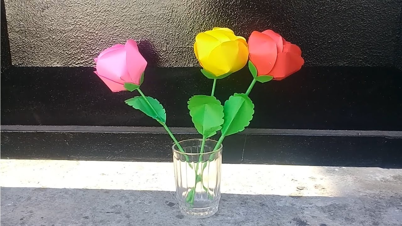 Hiasan Bunga Mawar dari Kertas Origami dan Cara Membuatnya | 720x1280