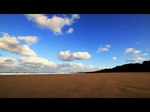 Beautiful Blue Sky Beach Time Lapse - Royalty Free HD Stock Video Footage