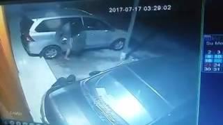 Hati - hati yg punya kendaraan parkir diluar !!!   baru saja terjadi  hari senin jam 3pagi....