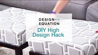 DIY High Design Hack - Decorator Stool/Ottoman!
