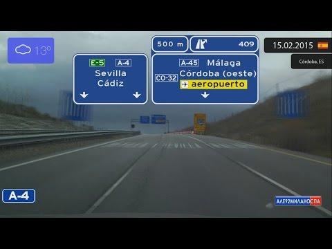 Driving through Andalucía (Spain) from Córdoba to Sevilla 15.02.2015 Timelapse x4