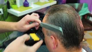 Наглядный пример несложной мужской стрижки для начинающих парикмахеров / men's haircut for beginners