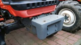 Obciążnik do traktorka japońskiego Kubota GB180 waga 26 kg   www.akant-ogrody.pl