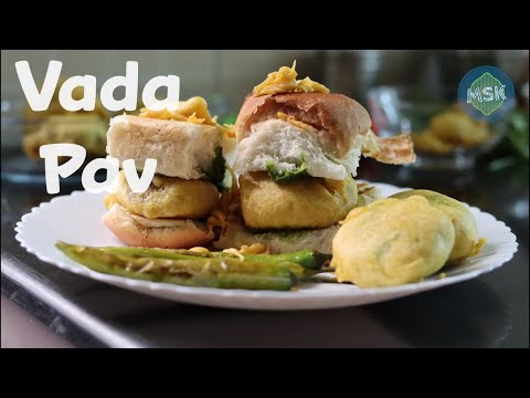 Vada Pav Recipe: Indian Snacks | Batata Vada | Vada Pav Chutney | Vada Pav Video | Msk Recipes