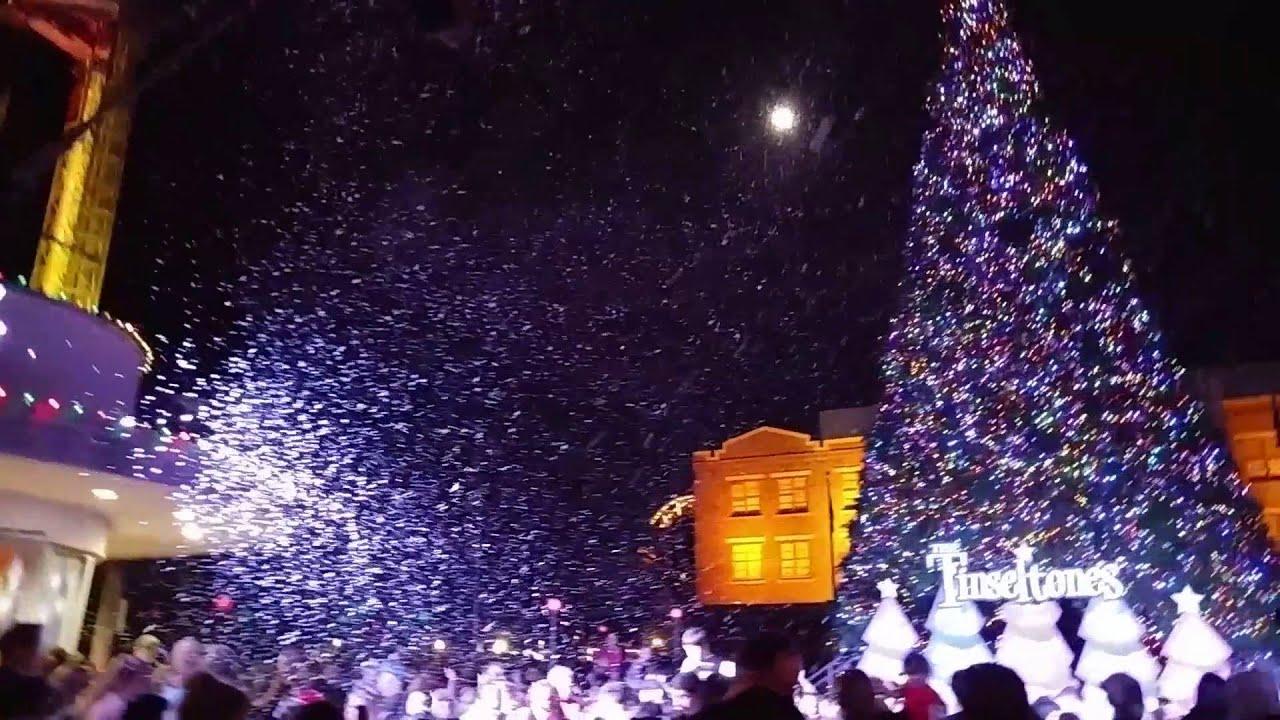 Six Flags Fiesta Texas Christmas Tree Lighting 2015
