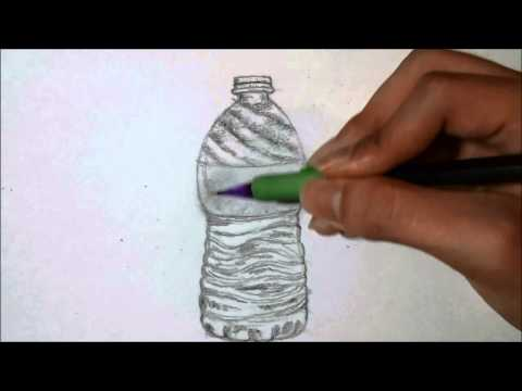 How to draw: Water bottle