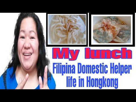 Filipina Domestic Helper life in Hongkong   My kind of lunch