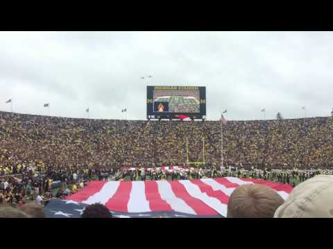A-10C Warthog flyover at Michigan Stadium