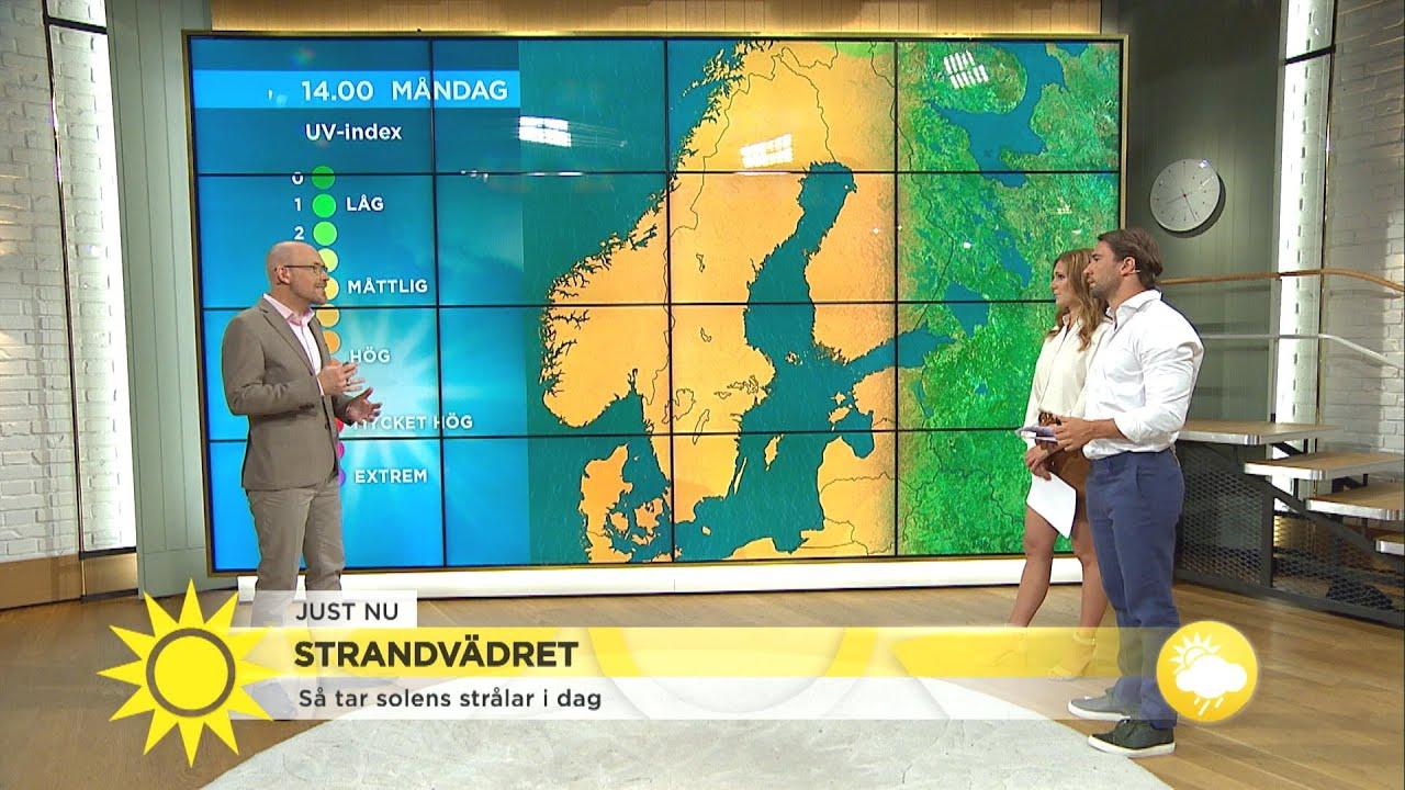 """Uppmaning till dig i solen: """"Man måste vara försiktig!"""" - Nyhetsmorgon (TV4)"""
