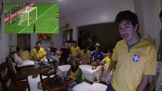 Germany 7 x 1 Brazil with Brazilians Reaction to goals