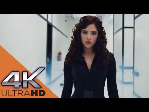 Черная Вдова избивает охрану Хлыста ★ Железный Человек 2 (2010)