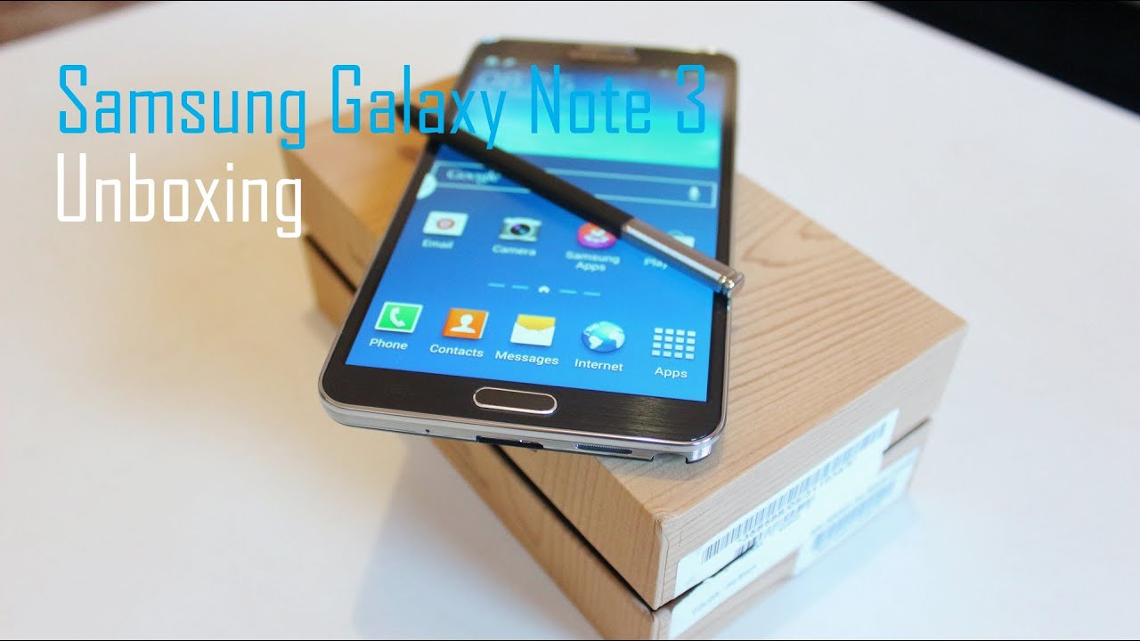 (Jet Black) Samsung Galaxy Note 3 Unboxing and Walkthrough ...
