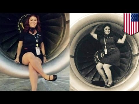Spirit Airlines flight attendant in big trouble after posing for pictures in engine well - TomoNews