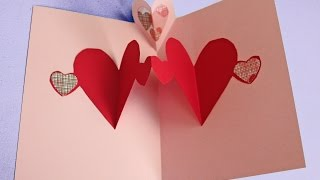 Easy pop up heart card making tutorial (to make with kids not just for Valentine's)