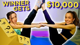 TWIN vs TWIN $10,000 Yoga Challenge | Mystery Twin Bin w/ The Merrell Twins