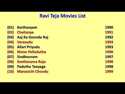 Ravi Teja Movies List