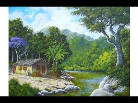 Landscape painting with poster color for beginners