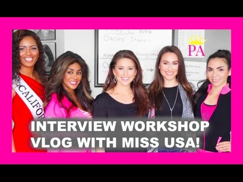 Pageant Interview workshop with Miss USA 2014! - YouTube