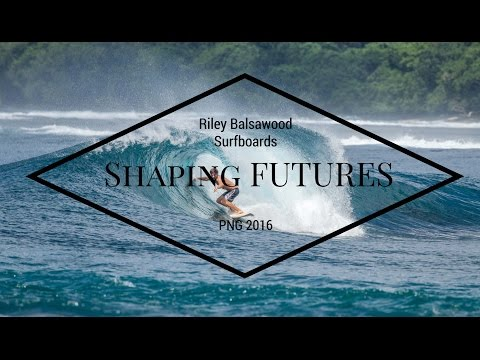 Riley balsawood Surfboards in Papua New Guinea surfing and building boards