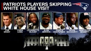 Seven Patriot Players Boycott Trump White House Visit—the First Group Protest of Its Kind In History